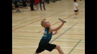 Kolding Denmark  city images : 7 year old Kolding junior, playing Kolding senior - Denmark - Badminton