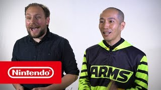 We challenged two UK Super Smash Bros. experts to put their fighting game skills to the test against ARMS producer Mr. Yabuki! See how they fared, and what they learnt, in this video...Official Website: http://www.nintendo.co.uk/Games/Nintendo-Switch/ARMS-1173200.htmlFacebook ARMS_UK: https://facebook.com/ARMSUKTwitter Nintendo UK: https://twitter.com/NintendoUKTwitch Nintendo UK: https://twitch.tv/NintendoUKInstagram Nintendo Switch UK: https://instagram.com/NintendoSwitchUKInstagram Nintendo UK: https://instagram.com/NintendoUKYouTube Nintendo UK: https://bit.ly/2cREWfu
