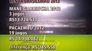O clássico contra o Vasco, ontem, resultou na 3ª maior renda entre jogos de equipes brasileiras. Ver episodio:...