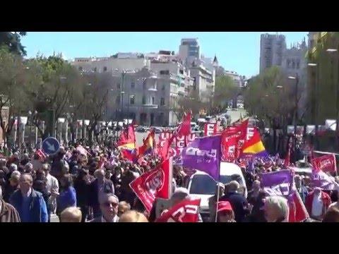 Manifestación del 1º de Mayo en Madrid