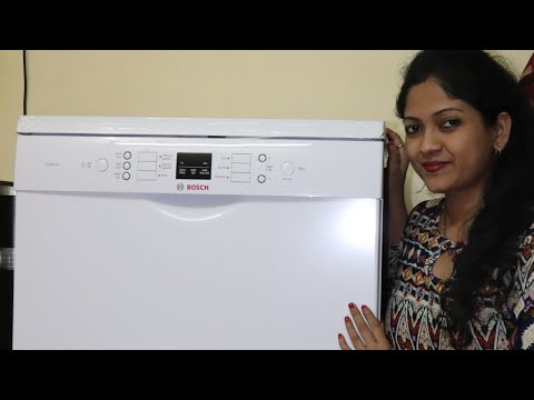 Bosch Dishwasher Review and Demo   How to wash Utensils in Dishwasher   Dishwasher Demo