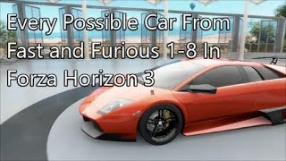 Nonton Forza Horizon 3|All Fast and Furious Cars Film Subtitle Indonesia Streaming Movie Download
