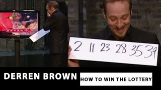 The live broadcast of Derren Brown correctly predicting the Lottery numbers. For more subscribe to our channel - http://www.youtube.com/user/OfficialDerren