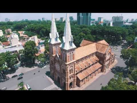 Welcome to Vietnam: notre dame cathedral ( Nha tho Duc Ba ) in Ho Chi MInh City