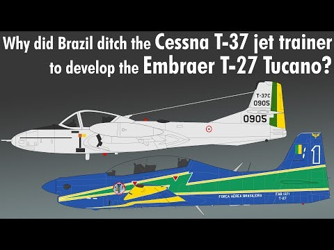 The Embraer T-27 Tucano is widely...