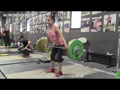 Halting Snatch Deadlift - Olympic Weightlifting Exercise Library - Catalyst Athletics