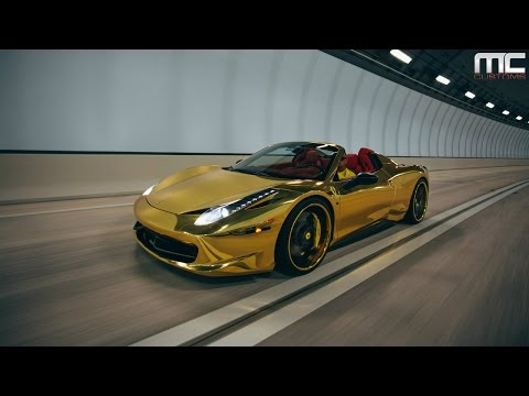 MC Customs | Gold Ferrari 458 Italia