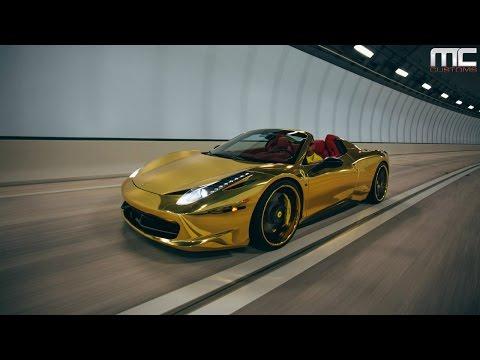 MC Customs | Gold Ferrari 458 Italia
