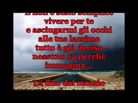 """, title : 'GIANNA NANNINI """"LA FINE DEL MONDO"""" + TESTO'"""
