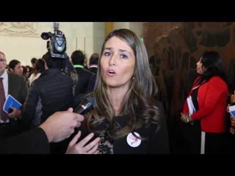 Diputada Nogueira comenta discurso presidencial