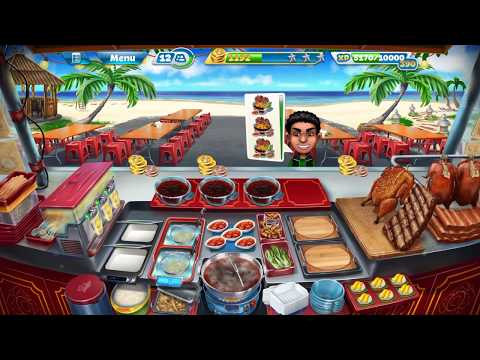Cooking Fever: Thai Food Stall: Level 40: Three Stars
