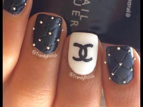 chanel nail art - semplice e bellissima!