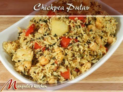Chickpea Pulav (Chole Biryani, One Pot Meal) Recipe by Manjula