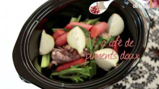 Bouillon de poulet en mijoteuse