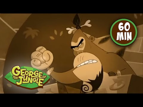 George Of The Jungle | Bathroom of the Apes | Season 1 | 1 Hour Compilation | Kids Cartoon