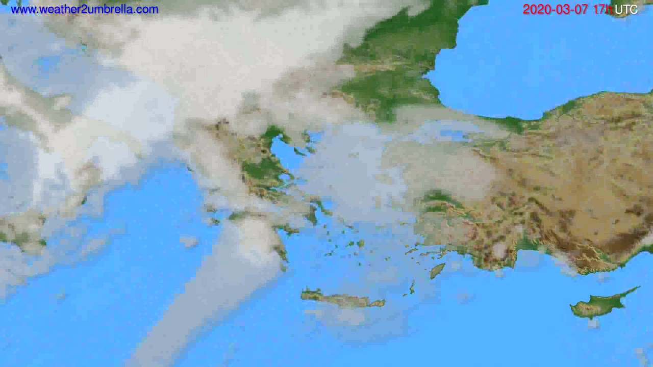 Cloud forecast Greece // modelrun: 12h UTC 2020-03-06