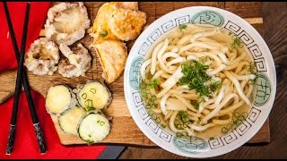 Udon Noodle Broth & Tempura Veg - SORTED Eats Japan by SORTEDfood