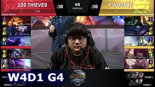Video 100 Thieves vs FlyQuest | Week 4 Day 1 of S8 NA LCS Spring 2018 | 100 vs FLY W4D1 G4 MP3, 3GP, MP4, WEBM, AVI, FLV Juni 2018