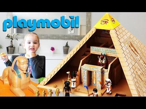 Playmobil Pyramide Sphinx et Pharaon d'Egypte Set 4240 (Unboxing)