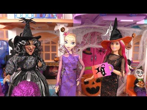 Halloween Déguisements de Sorcière Poupées Barbie Essayage de Robes