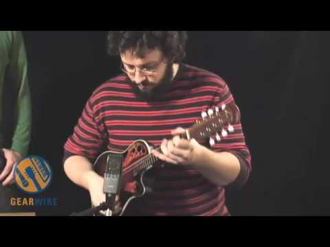 Black Lion Audio Auteur Mic Pre Paired With Ovation Mandolin