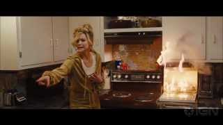 Jennifer Lawrence fires up this funny scene with Christian Bale from David O. Russell's con man dramedy.