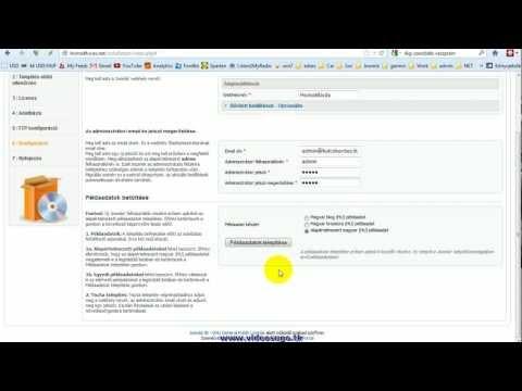 Honlap telepítése a webtárhelyre