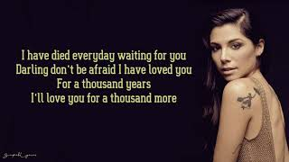 Video Christina Perri - A Thousand Years (Lyrics) MP3, 3GP, MP4, WEBM, AVI, FLV April 2019