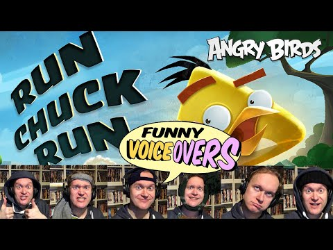 Angry Birds Funny Voiceovers | Run Chuck Run with Antti LJ!