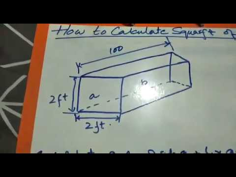 How to calculate square foot of a duct