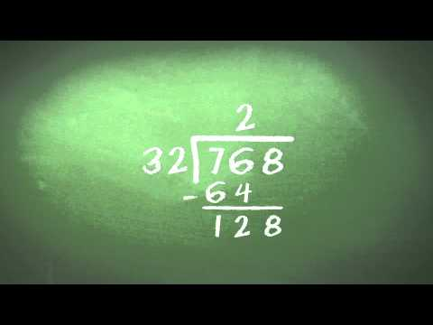 division - A guide of how to divide a three digit number by a two digit number.