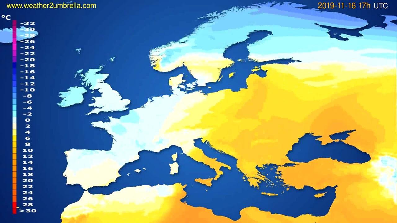 Temperature forecast Europe // modelrun: 12h UTC 2019-11-14