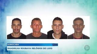 Polícia prende quadrilha que roubava relógios de luxo em Sorocaba