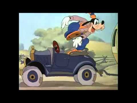 mickey donald e pateta em O trailer de mickey - Disney