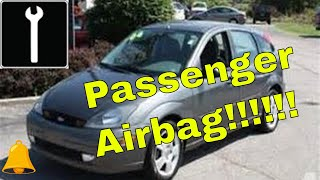 How to remove passenger air bag ford focus