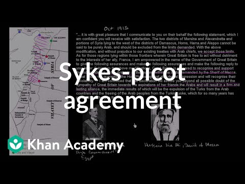 Sykes Picot Agreement And The Balfour Declaration Video Khan Academy