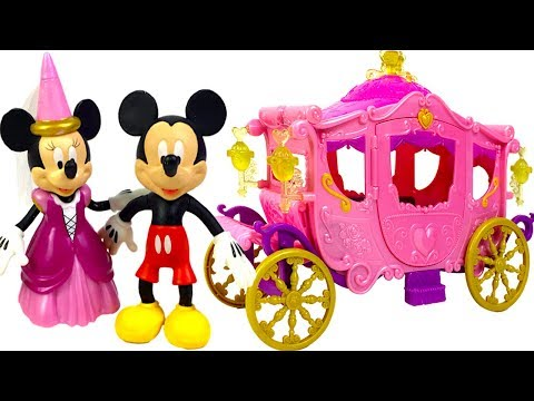 STORY WITH MINNIE MOUSE - MINNIE GETS INVITED TO A ROYAL BALL WITH DISNEY PRINCESSES AURORA & ARIEL