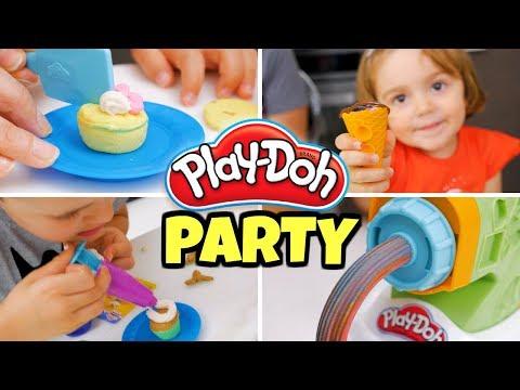 Facciamo un PLAY DOH PARTY: Kit Pasta, Gelati e Mixer di Dolcetti