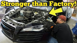 Video I Repaired My Totaled Audi R8's Cracked Frame for $500! Insurance Quoted $29,522! MP3, 3GP, MP4, WEBM, AVI, FLV November 2018
