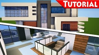 Minecraft: Easy Modern House / Mansion Tutorial #9 - Part 2 Interior - How to Build + DOWNLOAD