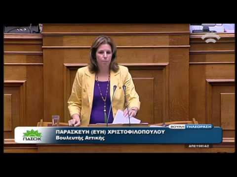 Βουλή: Ομιλία της Ευ. Χριστοφιλοπούλου