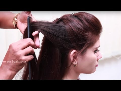 Hairstyles for long hair - Simple & Beautiful Hairstyle for Long hair  Party Hairstyle at Last Minute  hair style girl