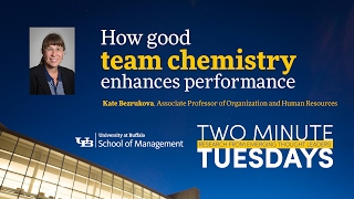 YouTube video highlighting School of Management faculty research on team chemistry.