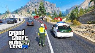 LSPDFR | Día 234 | Guardia Civil Motorista - INVESTIGANDO UN ACCIDENTE