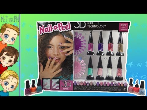 Unhas de gel - Nail-a-Peel  Design Your Own 3D Nail Art From The Makers of Gel-a-Peel