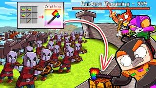 Scramble Craft VILLAGE RAID DEFENSE! (Minecraft)