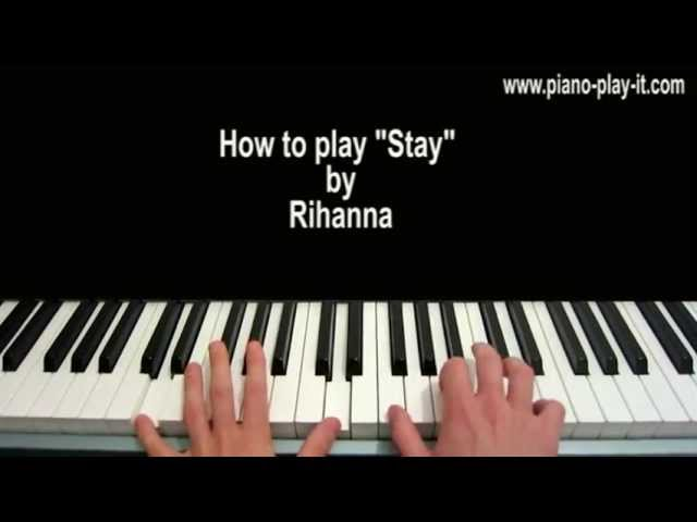 Stay Rihanna Piano Tutorial : SenzoMusic.com
