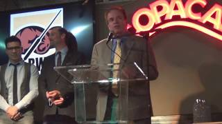 Journalist Ron Borges talks about James A. Farley Award ForHonesty and Integrity and winner Lou DiBella, BWAA dinner June 2016.