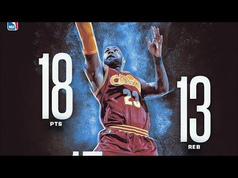 LeBron James 48th Triple Double of Career! Knicks vs Cavs (видео)