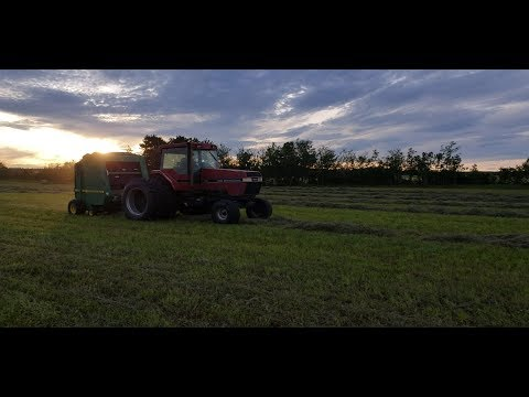 Shaun Is BACK...And baling Hay with The Magnum 7120